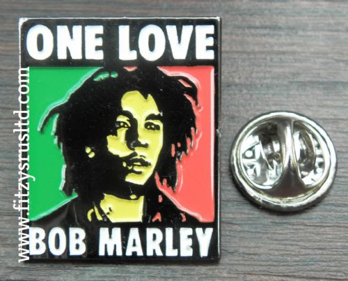Bob Marley One Love Lapel Pin Badge Reggae Legend Souvenir Gift